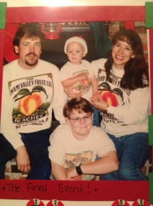 Even though it's been 17 years since this picture was taken, when people mention my family, this is my first thought.  The first people I ever knew.